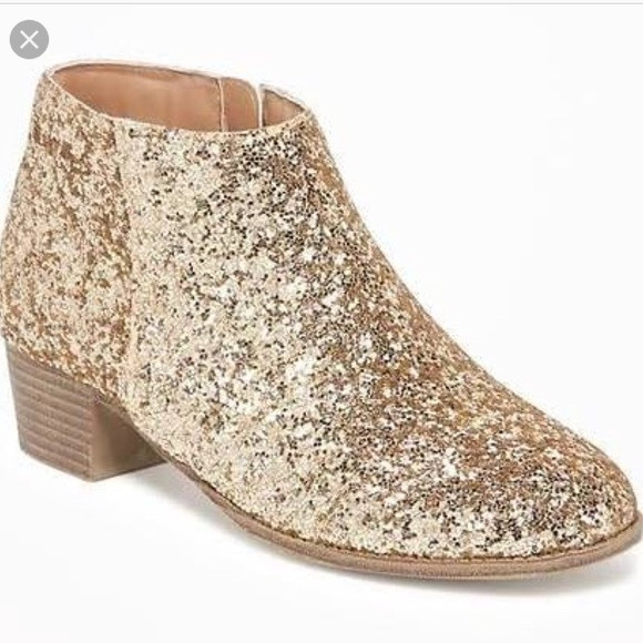 Old Navy Shoes | Nwt Glitter Booties